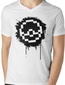 Pokeball Spray paint Mens V-Neck T-Shirt