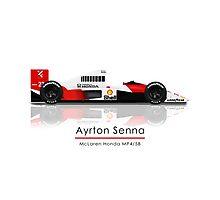 Ayrton Senna - McLaren Honda MP4/5B Photographic Print