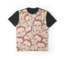 Nicolas Cage pattern Graphic T-Shirt