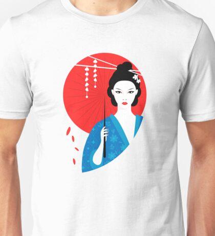 Geisha with parasol Unisex T-Shirt