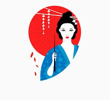 Geisha with parasol Unisex T-Shirt