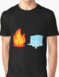 Flame and Ice Graphic T-Shirt