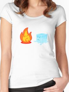 Flame and Ice Women's Fitted Scoop T-Shirt