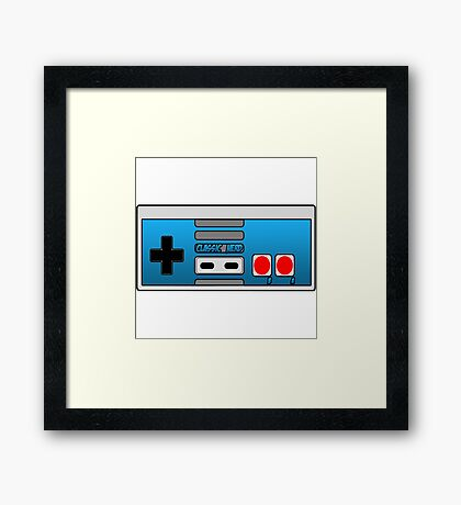 The Classic Nerd Controller Framed Print