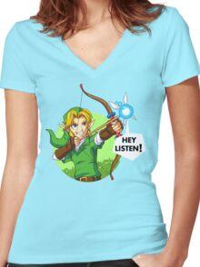 Zelda Fairy Bow  Women's Fitted V-Neck T-Shirt