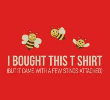 Cute Funny Bees T Shirt One Piece - Long Sleeve