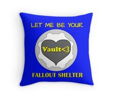 Gamer Romantic - Nuclear Fallout Shelter of Love Throw Pillow