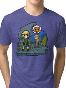 Zelda Wind Waker Meow Tri-blend T-Shirt