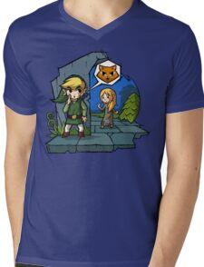 Zelda Wind Waker Meow Mens V-Neck T-Shirt