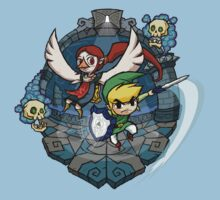 Zelda Wind Waker Earth Temple Kids Tee