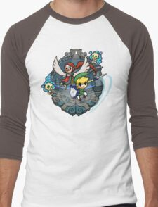 Zelda Wind Waker Earth Temple Men's Baseball ¾ T-Shirt