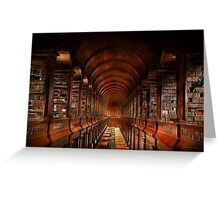 Library - The long room 1885 Greeting Card
