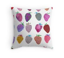 Strawberry Fields Forever Throw Pillow