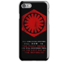 The Power of The First Order iPhone Case/Skin