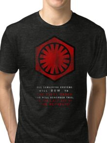 The Power of The First Order Tri-blend T-Shirt