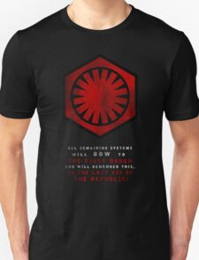 The Power of The First Order Unisex T-Shirt