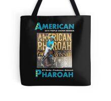 American Pharoah Horse Racing Triple Crown Winner Tote Bag