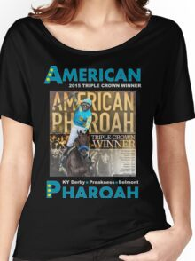 American Pharoah Horse Racing Triple Crown Winner Women's Relaxed Fit T-Shirt