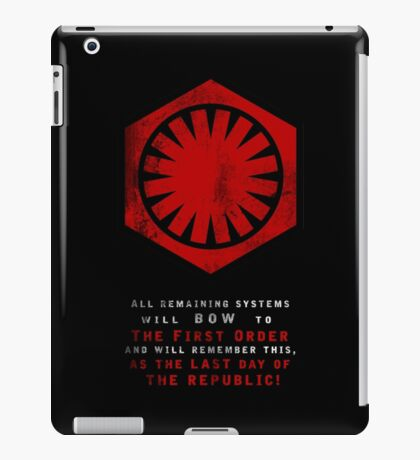 The Power of The First Order iPad Case/Skin
