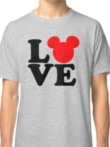 Love text silhouette Classic T-Shirt