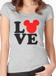 Love text silhouette Women's Fitted Scoop T-Shirt