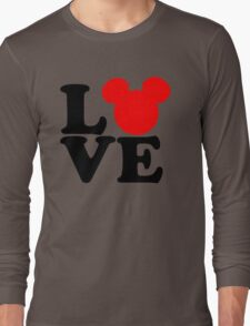 Love text silhouette Long Sleeve T-Shirt