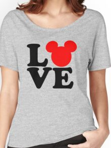 Love text silhouette Women's Relaxed Fit T-Shirt