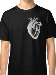 Anatomical Heart - White Outline Classic T-Shirt