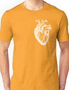 Anatomical Heart - White Outline Unisex T-Shirt