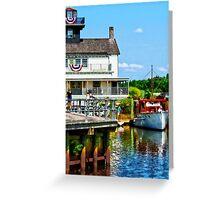 Docked Boats Greeting Card