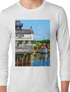 Docked Boats Long Sleeve T-Shirt