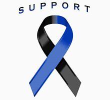 Black & Blue Awareness Ribbon of Support Unisex T-Shirt