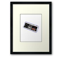 Nes Controller Distort Framed Print