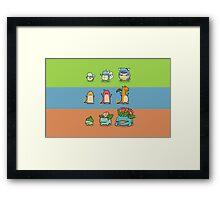 Pokemon Starters Framed Print