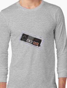 Nes Controller Distort Long Sleeve T-Shirt