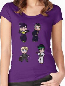 Diamond is Unbreakable Chibi collection Women's Fitted Scoop T-Shirt