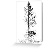 aspen solitude silhouette design Greeting Card