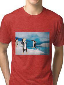 luke penguin Tri-blend T-Shirt