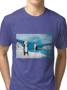 luke penguin Tri-blend T-Shirt