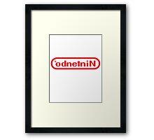 NINTENDO WEIRD Framed Print