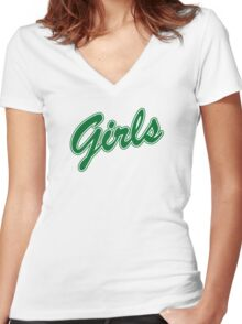 Girls Sweatshirt - Friends (green) Women's Fitted V-Neck T-Shirt
