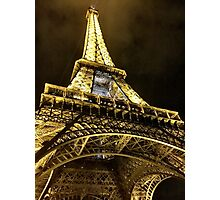 Eiffel Tower by Night, Paris Photographic Print