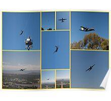 Last flight over Canberra c130 Poster
