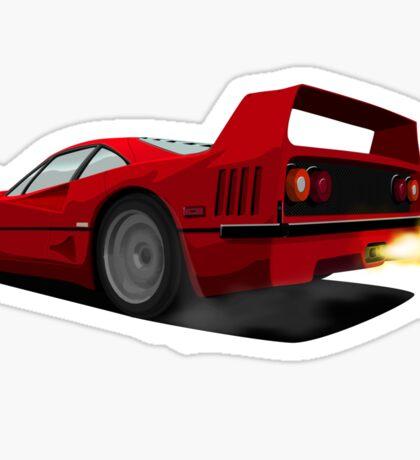 Ferrari F40 Sticker
