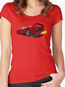 Ferrari F40 Women's Fitted Scoop T-Shirt