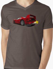 Ferrari F40 Mens V-Neck T-Shirt
