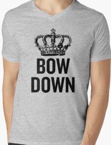 Bow Down Mens V-Neck T-Shirt