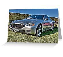 Silver Maserati at Carrack Hill Greeting Card