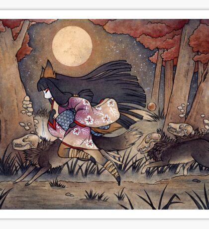 Running With Monsters - Kitsune Fox Yokai  Sticker