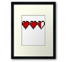 Legend of Zelda Heart Containers Framed Print
